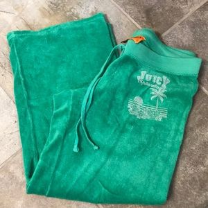 Juicy Couture terry cloth ankle pant